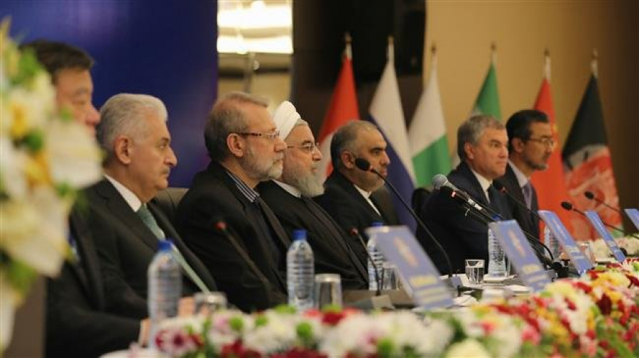 Iran blasts US 'economic terrorism' at major conference